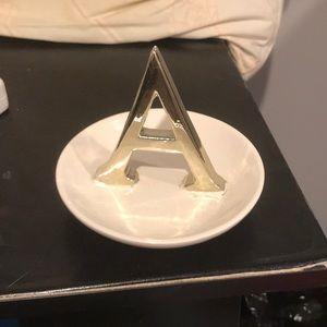 """""""A"""" Jewelry Dish"""